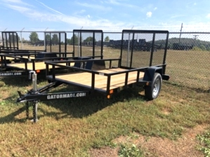 Utility Trailer 5x10  Utility Trailer 5x10. Single axle with diamond tread fenders