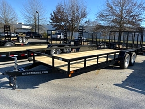 Utility Trailer 20ft By Gator  Utility Trailer 20ft By Gator. 20ft landscape trailer with diamond tread fenders.