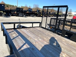 Utility Trailer With Side Gate 16ft Utility Trailer With Side Gate 16ft. Dual Axle landscape trailer with side gate and tailgate.