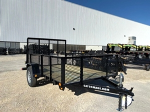 Utility Trailer 6x10 With Mesh Sides Utility Trailer 6x10 With Mesh Sides. Single axle landscape trailer with tall mesh sides + tailgate.