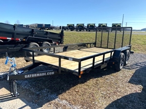 Utility Trailer With Mag Wheels  Utility Trailer With Mag Wheels. Dual axle landscape trailer. 16ft long with 7k GVW.