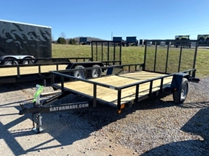 Utility Trailer Landscape By Gator 6x14  Utility Trailer Landscape By Gator 6x14. 14ft 2.9k utility trailer features Gator Tuff powder coat finish and diamond tread fenders.