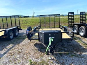 Utility Trailer 14ft Utility Trailer 14ft. Utility trailer by Gator with poly tool box